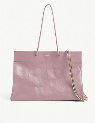 MEDEA: Dieci Busted leather tote bag