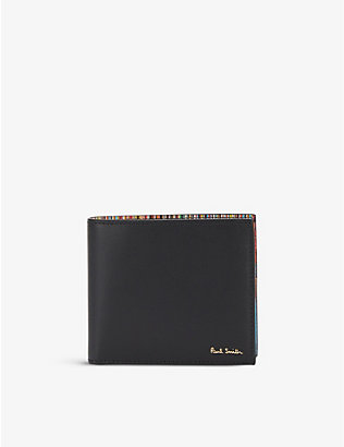 PAUL SMITH ACCESSORIES: Signature stripe interior leather billfold wallet
