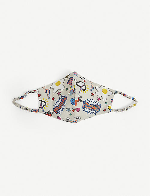 ANYA HINDMARCH: All Over Stickers cotton face covering