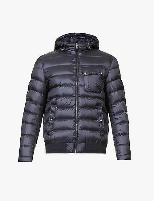BELSTAFF: Streamline padded shell-down jacket