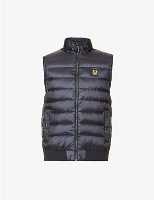 BELSTAFF: Streamline padded shell-down gilet