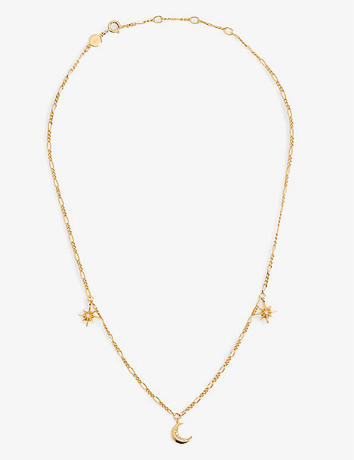 EDGE OF EMBER: Cosmic Charm 18k gold-plated necklace
