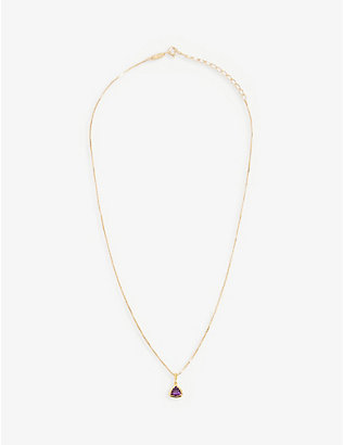 EDGE OF EMBER: Amethyst Charm 18k gold-plated necklace