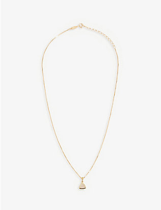 EDGE OF EMBER: Moonstone Charm 18k gold-plated necklace