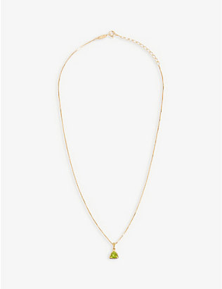 EDGE OF EMBER: Peridot Charm 18k gold-plated necklace