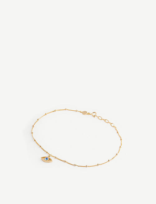EDGE OF EMBER: Visionary 18ct yellow gold-plated sterling silver vermeil and topaz anklet