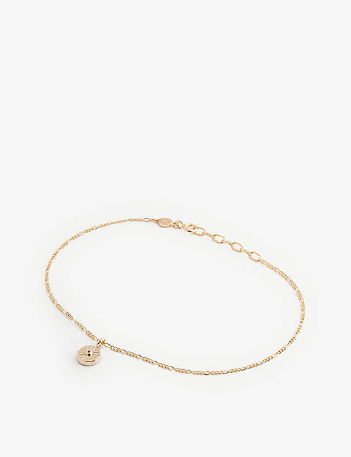 EDGE OF EMBER: Lumina 18k gold-plated sterling silver anklet chain