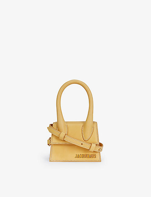 JACQUEMUS: Le Chiquito mini suede top handle bag
