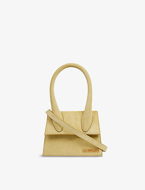 JACQUEMUS: Le Chiquito medium suede top handle bag