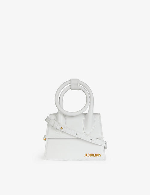 JACQUEMUS: Le Chiquito Noeud medium leather cross-body bag