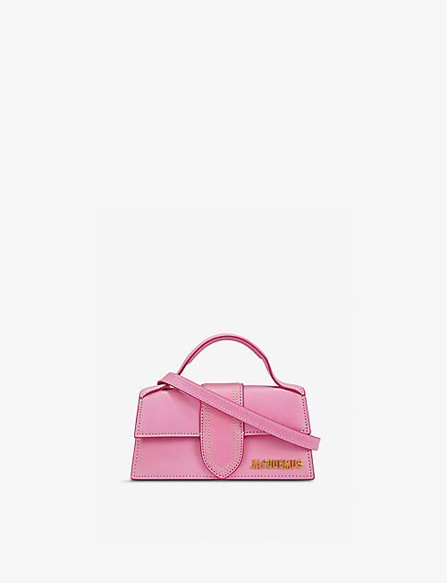 JACQUEMUS: Le Bambino suede top handle bag