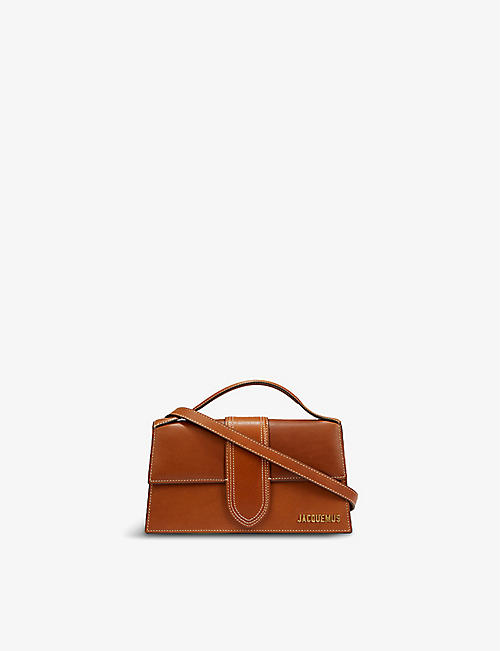 JACQUEMUS: Le Grand Bambino leather top handle bag