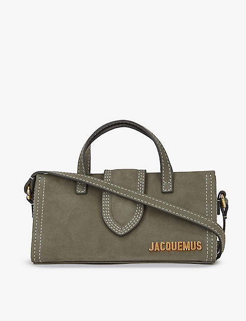 JACQUEMUS: Le Porte suede cross-body bag