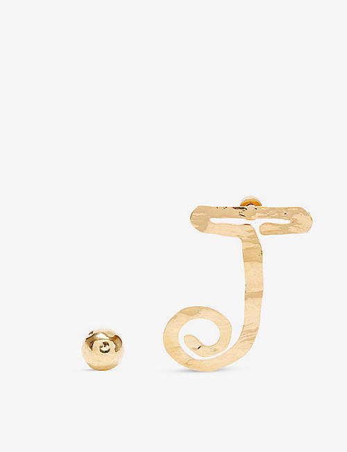 JACQUEMUS: La Boucle J earrings