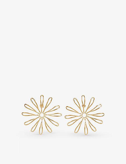 JACQUEMUS: Le Fleaurswire gold-tone earrings