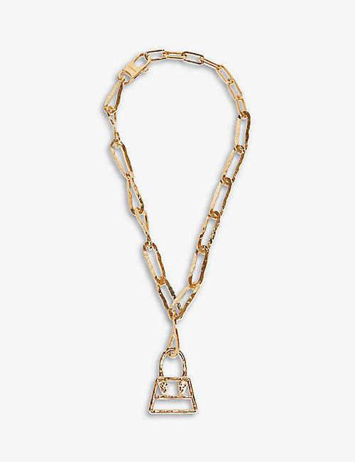 JACQUEMUS: Chiquito gold-toned brass chain necklace