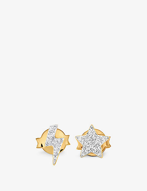 MISSOMA: Star Struck 18ct yellow gold-plated vermeil sterling-silver and crystal earrings