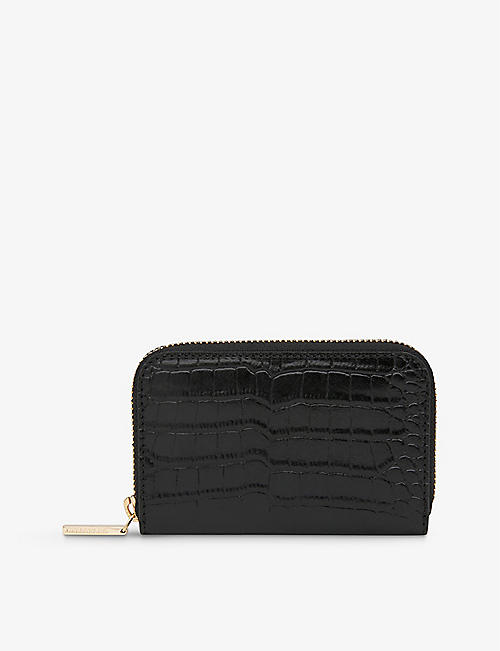 WHISTLES: Kira crocodile-embossed leather purse