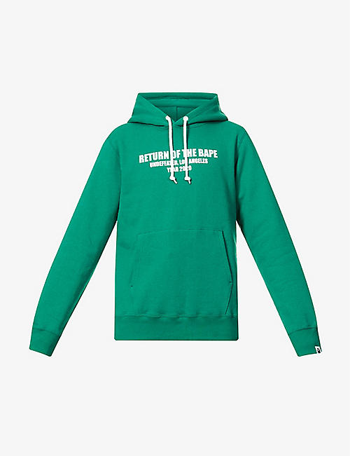 A BATHING APE: A Bathing Ape x Undefeated logo-print cotton-jersey hoody