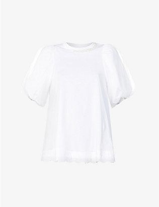 SIMONE ROCHA: Puff short-sleeved cotton-jersey top