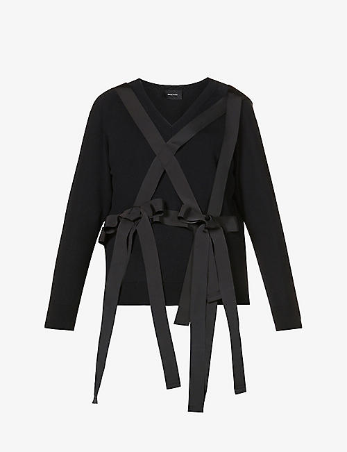 SIMONE ROCHA: Bow and strap-embellished wool jumper