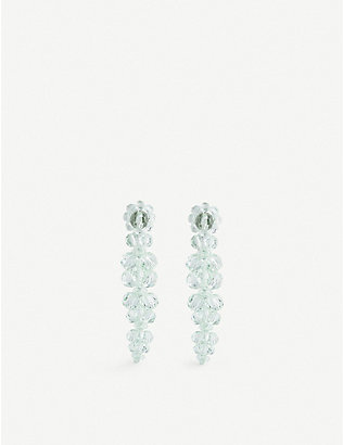 SIMONE ROCHA: Cluster Drip sterling silver and glass earrings