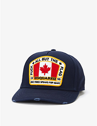 DSQUARED2 ACC: Canadian flag-appliqué cotton baseball cap