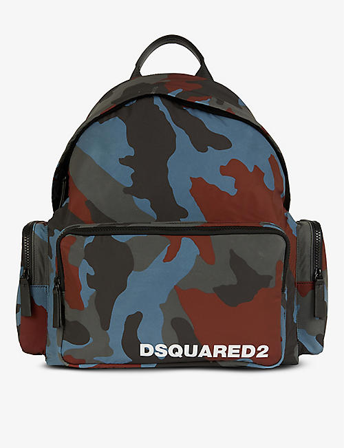 DSQUARED2 ACC: Camouflage-print shell backpack