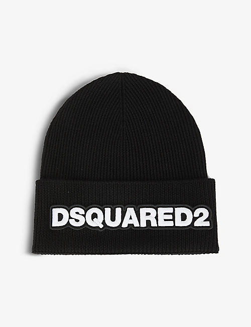DSQUARED2 ACC: Logo-embroidered wool beanie