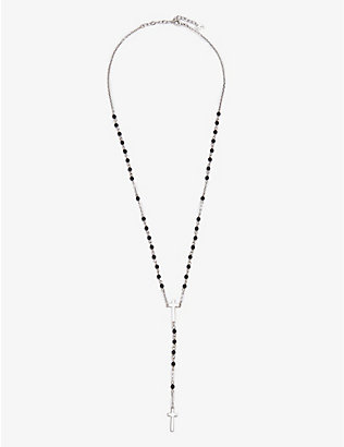DSQUARED2 ACC: Double cross beaded necklace