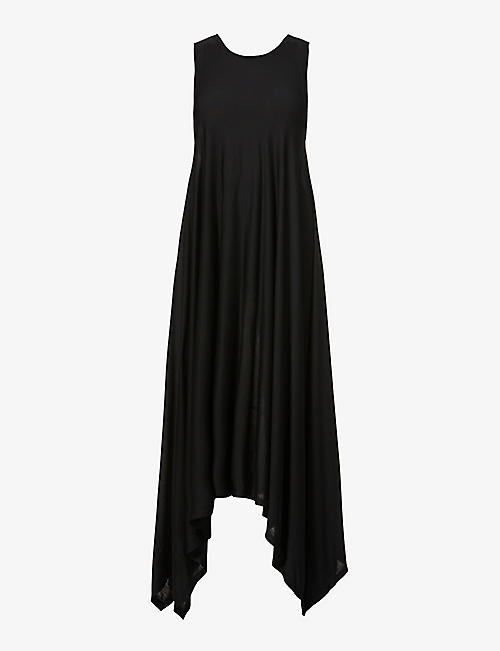 ISABEL BENENATO: Sleeveless relaxed-fit modal midi dress
