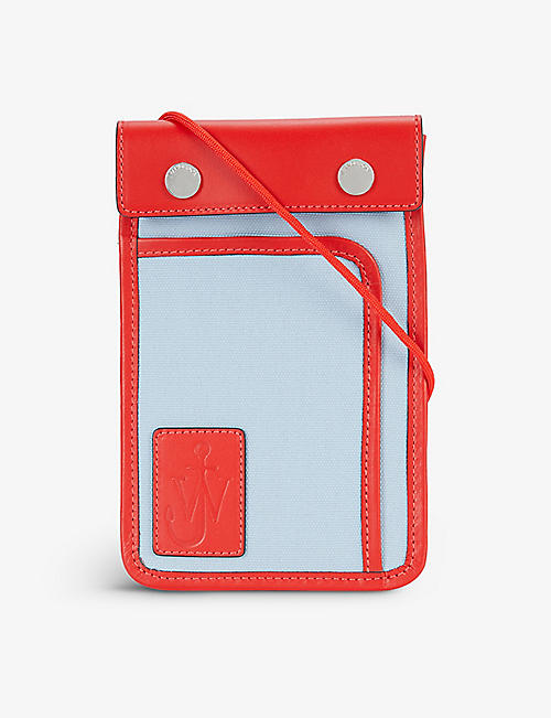 JW ANDERSON: Pulley cotton-blend and leather cross-body bag