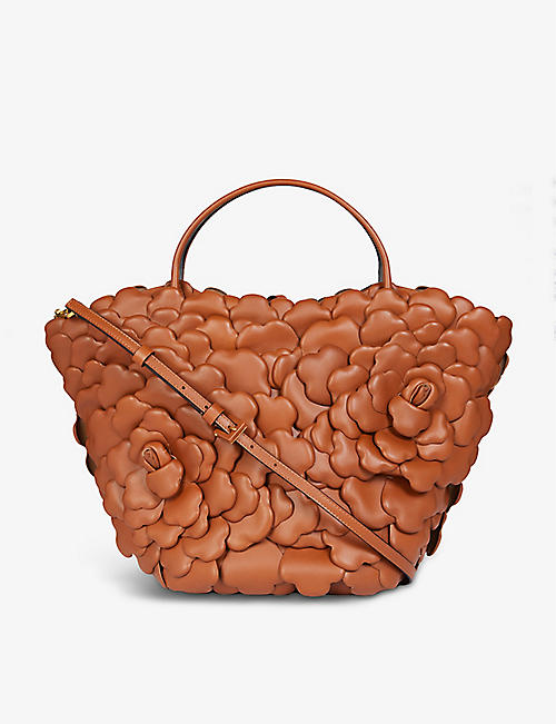 VALENTINO GARAVANI: 03 Rose Edition Atelier leather bucket bag