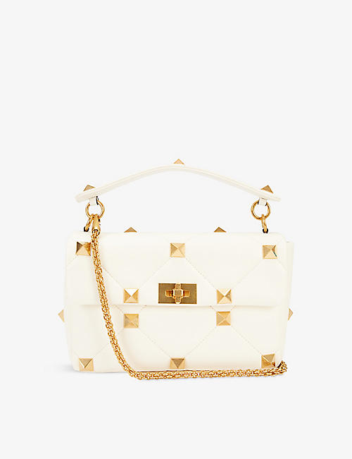 VALENTINO GARAVANI: Roman Stud medium leather shoulder bag
