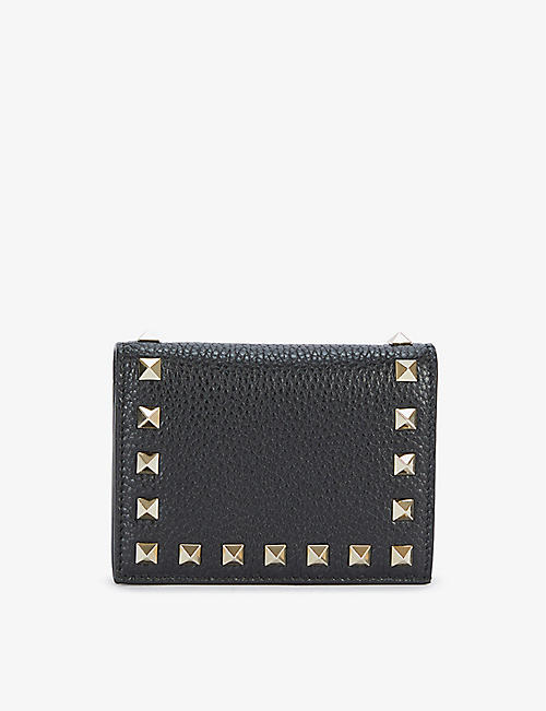VALENTINO GARAVANI: Rockstud leather wallet