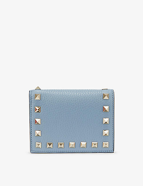 VALENTINO GARAVANI: Rockstud French leather wallet