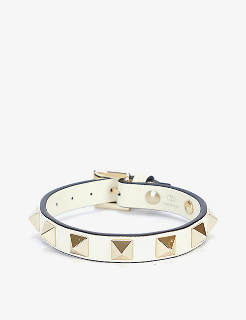 VALENTINO GARAVANI: Rockstud small leather bracelet