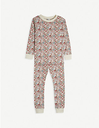 SLEEPY DOE: Winter Floral cotton pyjama set 1-11 years