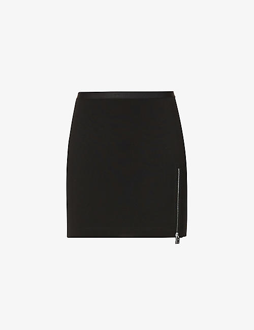 1017 ALYX 9SM: Branded high-waisted stretch-woven mini skirt