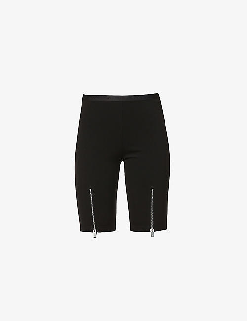 1017 ALYX 9SM: Branded high-rise stretch-woven shorts