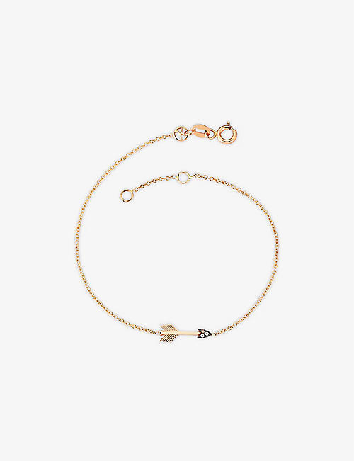 THE ALKEMISTRY: Kismet by Milka Arrow 14ct rose-gold and diamond bracelet