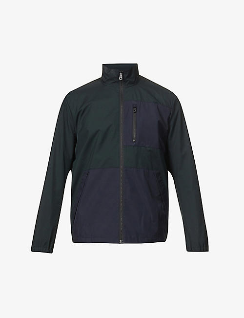 PAUL SMITH: Funnel-neck recycled polyester jacket