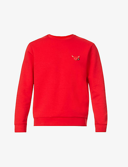 EMPORIO ARMANI: Ox-emoji cotton-blend jumper