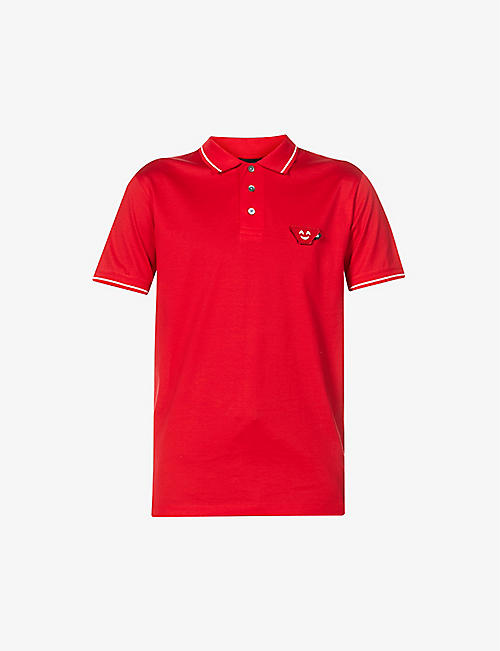 EMPORIO ARMANI: Emoji cotton polo shirt
