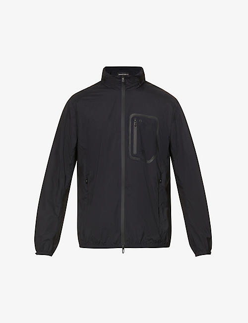 EMPORIO ARMANI: Pocket-chest cotton-blend jacket
