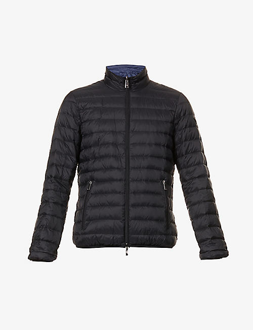 EMPORIO ARMANI: Quilted shell-down jacket