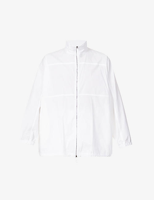 EMPORIO ARMANI: Funnel-neck cotton-blend jacket