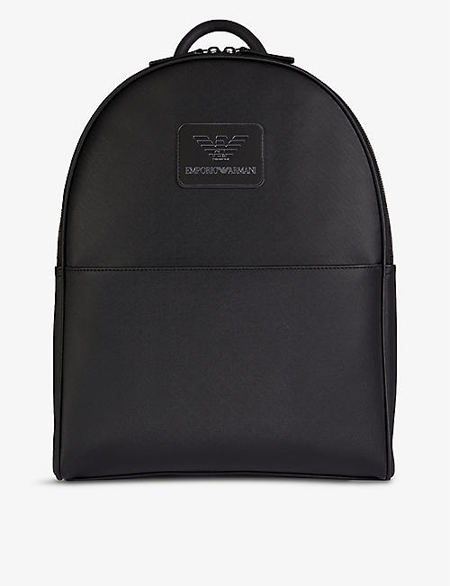 EMPORIO ARMANI: Brand-embossed top-handle nylon backpack