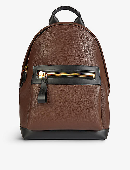 TOM FORD: Buckley oversized leather backpack