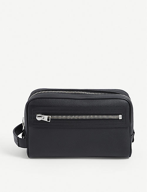 TOM FORD: Classic branded leather washbag